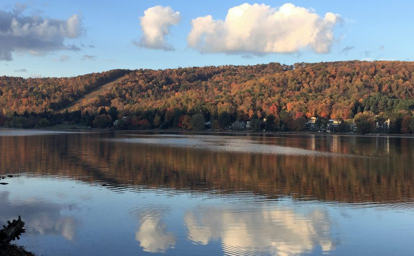 Beautiful Autumn Morning from Deep Creek Lake Maryland